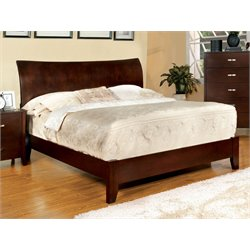 Furniture of America Ownby Queen Paltform Bed in Brown Cherry