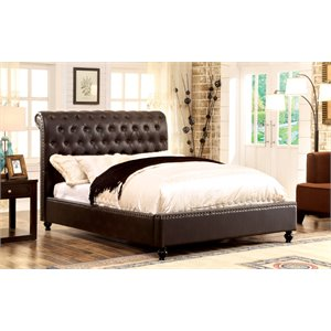 Selina Tufted Faux Leather Bed