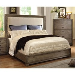 Furniture of America Muttex Queen Panel Bed in Natural Ash
