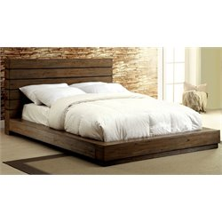 Furniture of America Benjy Queen Panel Bed in Rustic Natural
