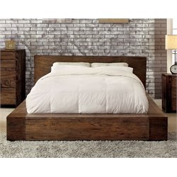 Furniture of America Elbert King Platform Bed in Rustic Natural