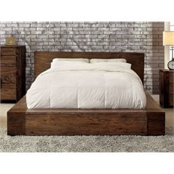 Furniture of America Elbert Queen Platform Bed in Rustic Natural