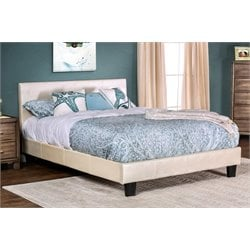 Furniture of America Nicole California King Faux Leather Platform Bed