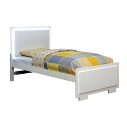 Furniture of America Marsh Full LED Platform Bed in White