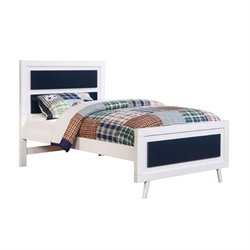 Furniture of America Jennings Full Platform Panel Bed in Blue