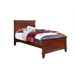 Furniture of America Hailey Full Platform Panel Bed in Cherry