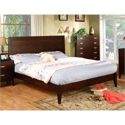 Furniture of America Brooklyn Queen Panel Bed in Brown Cherry