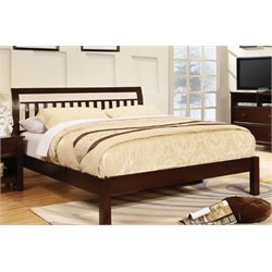 Furniture of America Elena King Platform Bed in Dark Walnut