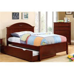 Furniture of America Dugan Full Platfrom Bed in Cherry