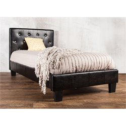 Furniture of America Kylen California King Leather Tufted Platform Bed