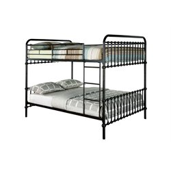 Furniture of America Sherman Full over Full Bunk Bed in Dark Bronze