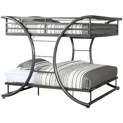 Furniture of America Forle Full over Full Bunk Bed in Gun Metal