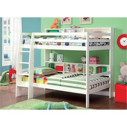 Furniture of America Melvin Twin over Twin Bunk Bed in White