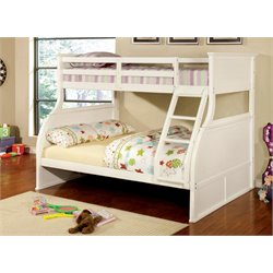 Furniture of America Hicks Twin over Full Bunk Bed in White