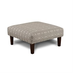Furniture of America Gauthier Square Fabric Ottoman in Gray