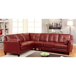 Billie Faux Leather Tufted Sectional