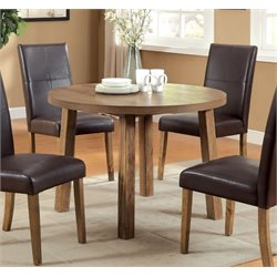 Furniture of America Loen Round Dining Table in Light Oak