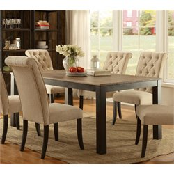 Furniture of America Lexon Dining Table in Black