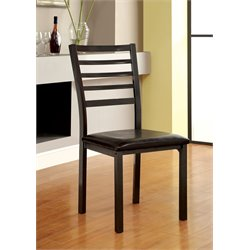 Furniture of America Maxson Dining Chair in Black (Set of 2)