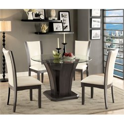 Furniture of America Henxley Round Dining Table in Gray