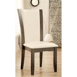 Furniture of America Arentz Faux Leather Dining Chair (Set of 2)