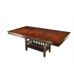 Furniture of America Rancourt Extendable Dining Table in Brown Cherry