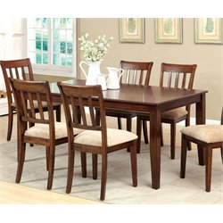 Furniture of America Murphiree Dining Table in Brown Cherry