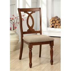 Furniture of America Acord Dining Chair in Dark Oak (Set of 2)