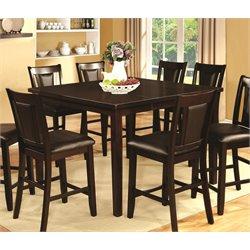 Furniture of America Humphrey Extendable Counter Height Dining Table