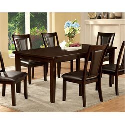 Furniture of America Humphrey Extendable Dining Table in Dark Cherry