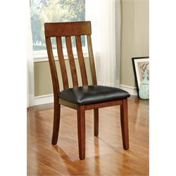 Furniture of America Claire Dining Chair in Cherry (Set of 2)