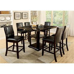 Furniture of America Jacobo Square Counter Height Dining Table