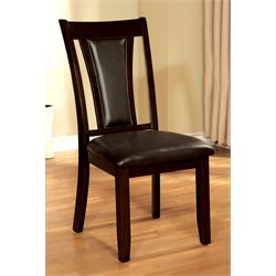 Furniture of America Melott Dining Chair in Dark Cherry (Set of 2)