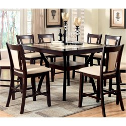 Furniture of America Melott Square Counter Height Dining Table