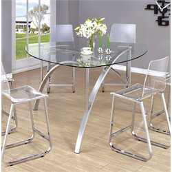 Furniture of America Andido Round Counter Height Dining Table