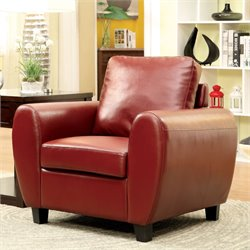 Parvi Leather Accent Chair