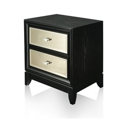 Furniture of America Bettyann 2 Drawer Nightstand in Black