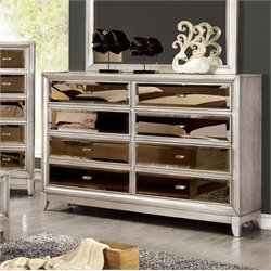 Bettyann 8 Drawer Mirror Panel Dresser