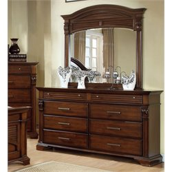 Furniture of America Vizcaino 8 Drawer Dresser and Mirror Set