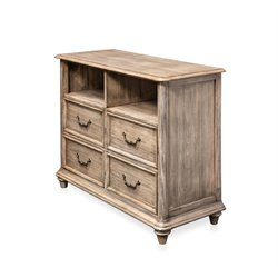 Furniture of America Bartrand 4 Drawer Media Chest in Castle Gray
