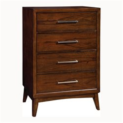 Furniture of America Bryant 4 Drawer Chest in Brown Cherry