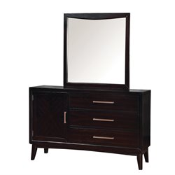 Furniture of America Bryant 3 Drawer Dresser and Mirror Set