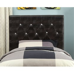 Furniture of America Chasidy Twin Faux Leather Headboard in Brown