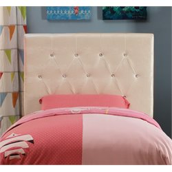 Furniture of America Chasidy Twin Faux Leather Headboard in White