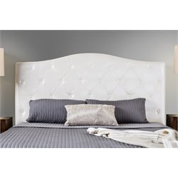 Furniture of America Olivia Full Queen Faux Leather Headboard in White