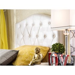 Furniture of America Olivia Twin Faux Leather Headboard in White