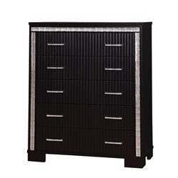 Furniture of America Clarice Modern 5 Drawer Chest in Black
