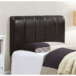 Furniture of America Kenzie Twin Leather Headboard in Espresso
