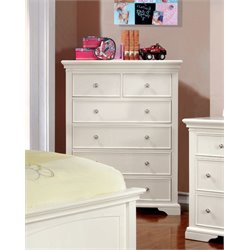 Furniture of America Gillis 6 Drawer Chest in White