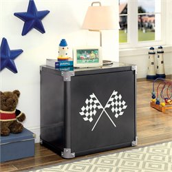 Furniture of America Parham Metal Nightstand in Black